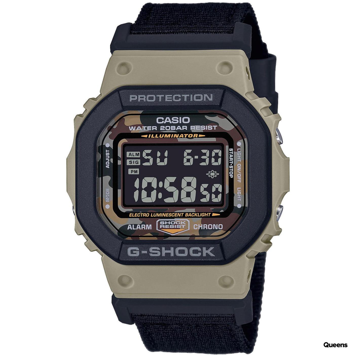 "Casio G-Shock DW 5610SUS-5ER ""Utility Color Series"" černá / béžová / camo"