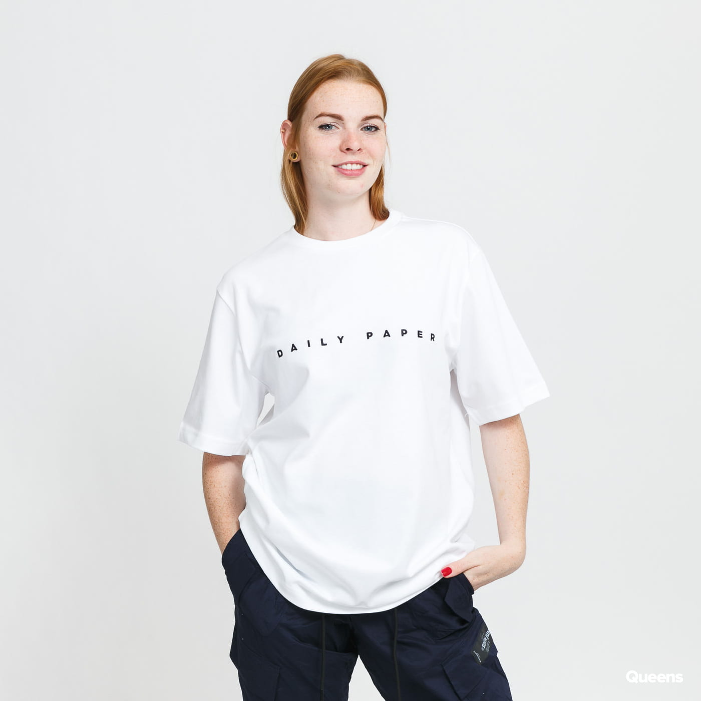 Daily Paper White Alias T-Shirt blue / turquoise