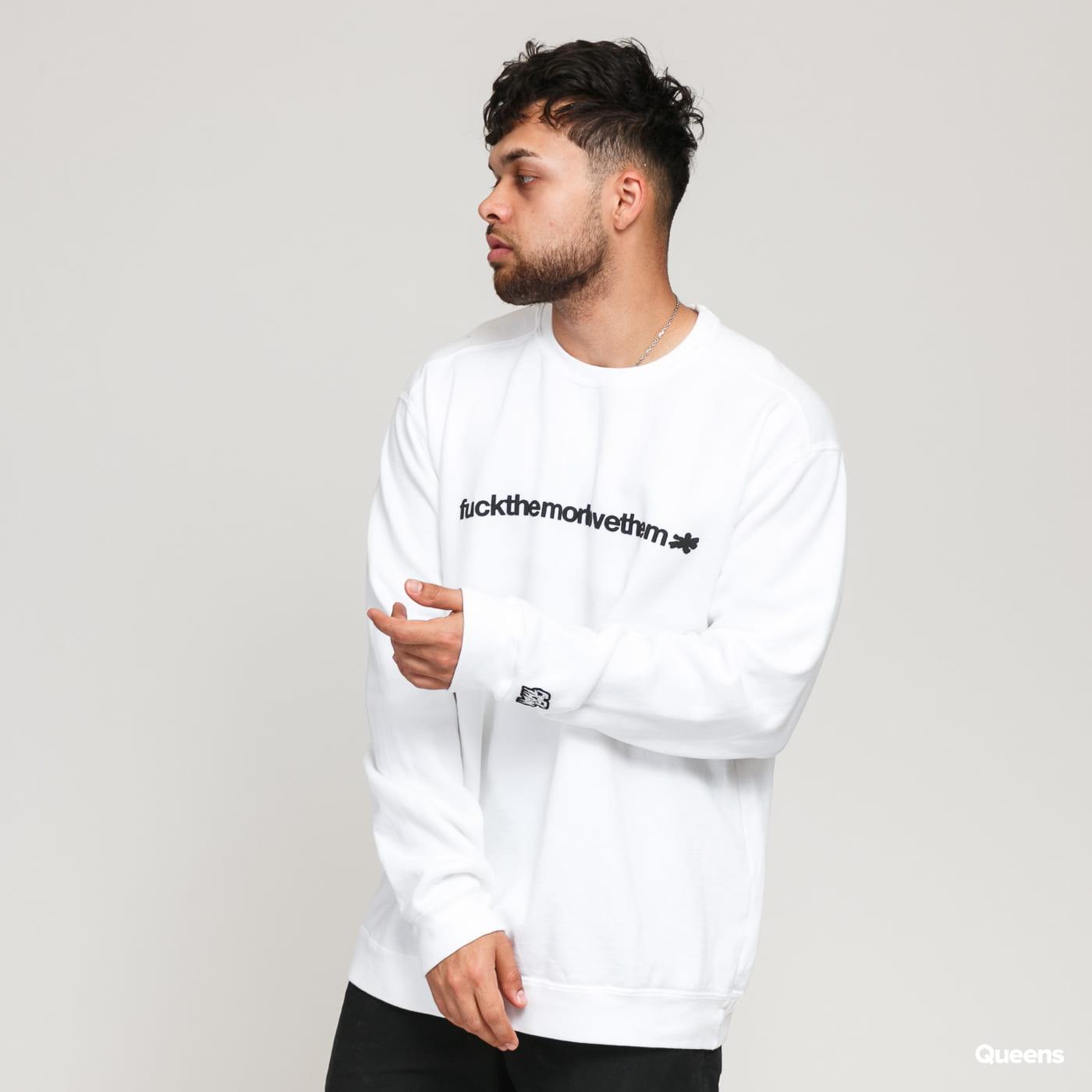F*CK THEM FTMLT Crewneck (mini cord) multi / true white
