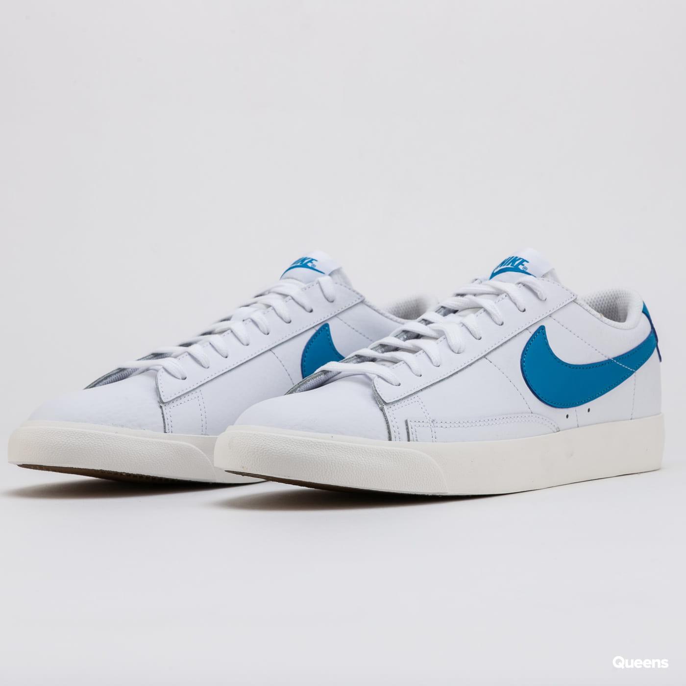 Nike Blazer Low Leather white / laser blue - sail