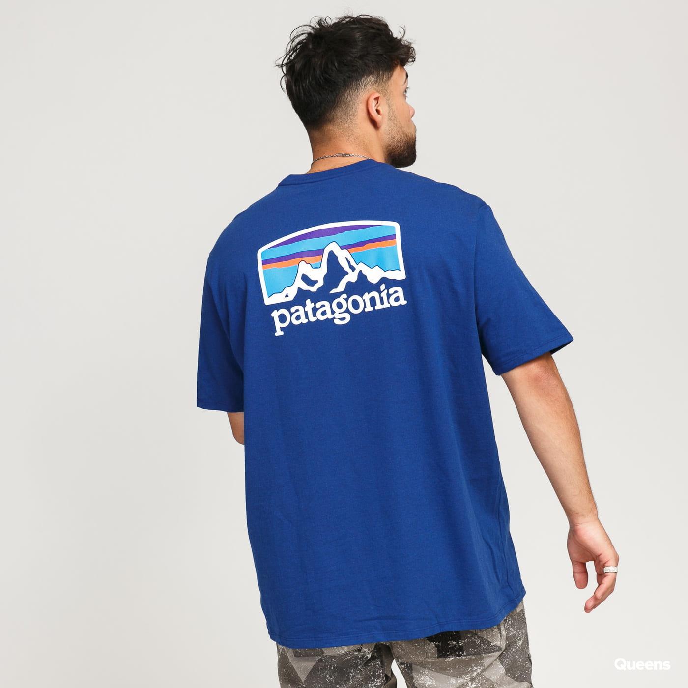 Patagonia M's Fitz Roy Horizons ResponsibiliTee dark blue