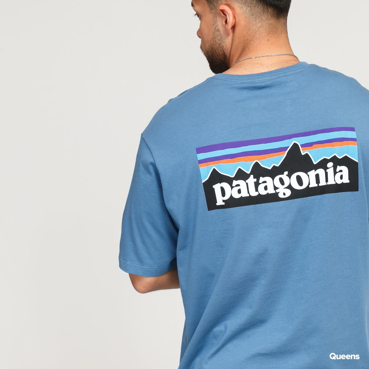 Patagonia M's P6 Logo Organic T-Shirt modré