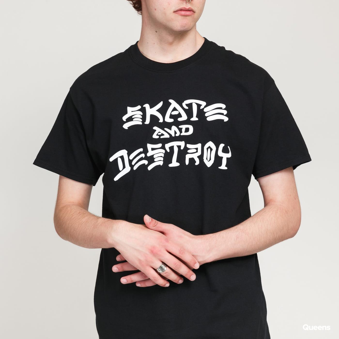 Thrasher Skate And Destroy Tee černé