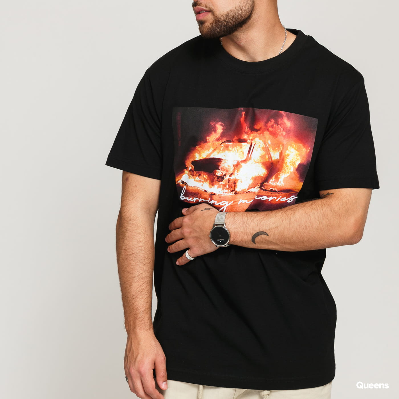 Urban Classics Burning Car Tee černé