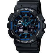 Casio G-Shock GA 100-1A2ER black / blue
