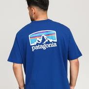 Patagonia M's Fitz Roy Horizons Responsibili Tee tmavě modré
