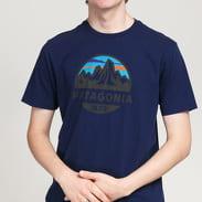 Patagonia M's Fitz Roy Scope Organic TShirt navy