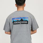 Patagonia M's P6 Logo Responsibili Tee melange šedé