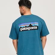 Patagonia M's P6 Logo Responsibili Tee tmavě tyrkysové