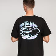 Pink Dolphin Ride The Wave Tee černé