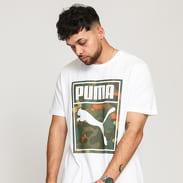 Puma Classics Graphics Logo Tee bílé