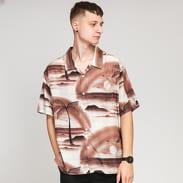 Stüssy Island Shirt hnědá / béžová