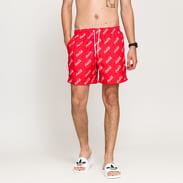 Urban Classics Coca Cola Logo AOP Swimshort červené / bílé