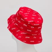Urban Classics Maison Bucket Hat red / white