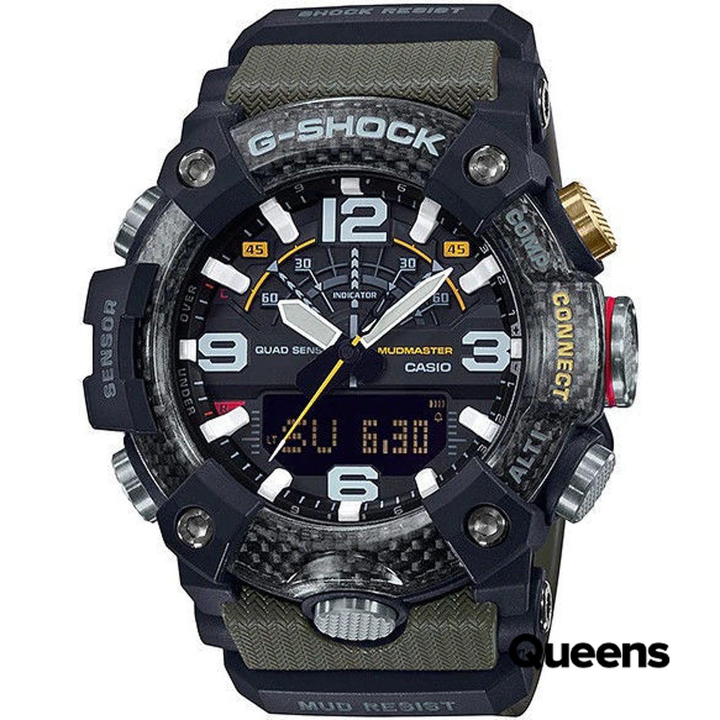 "Casio G-Shock GG B100-1A3ER Mudmaster ""Carbon Core Guard"" black / olive"