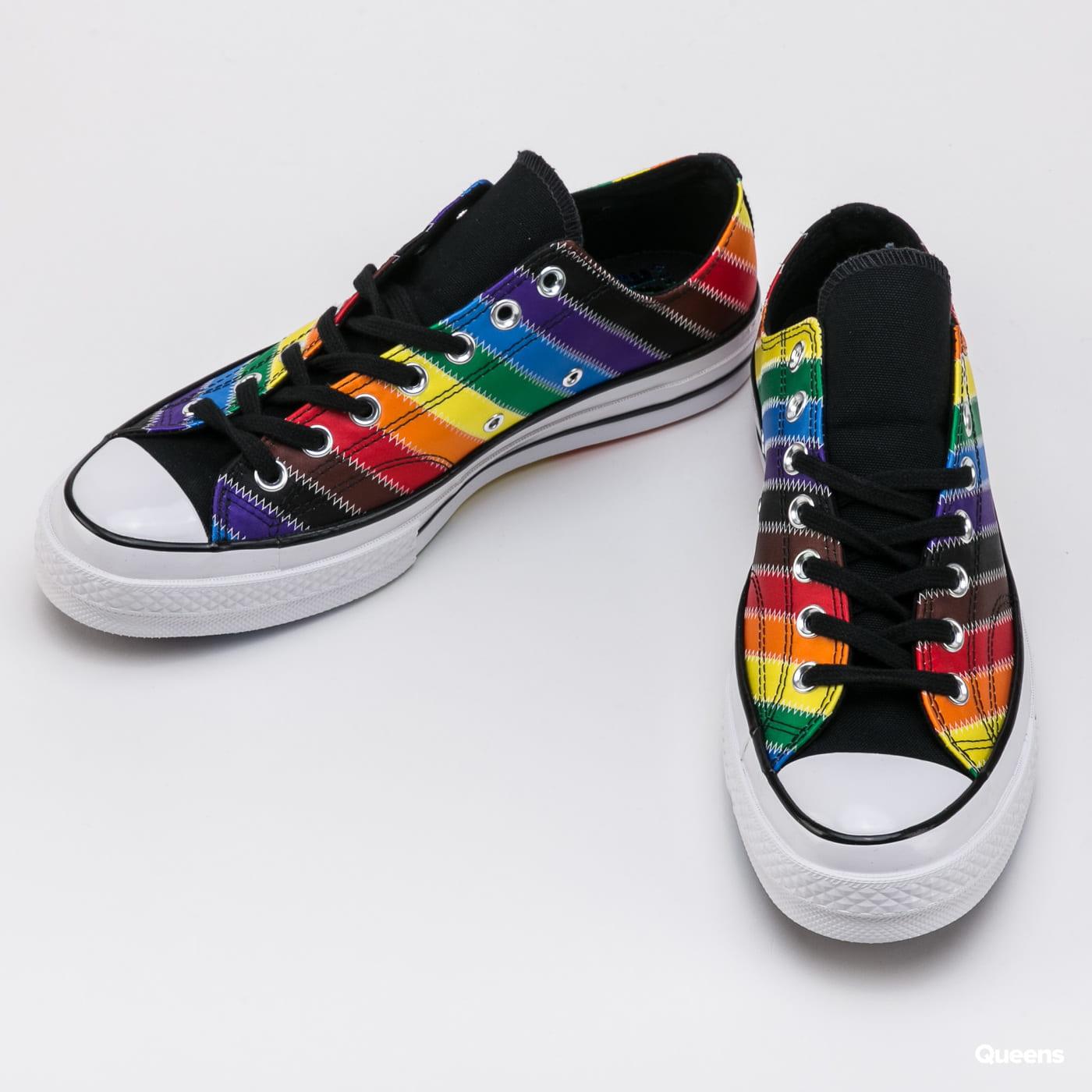 Converse Chuck 70 OX - Pride Flag Stripe white / black / dark roast