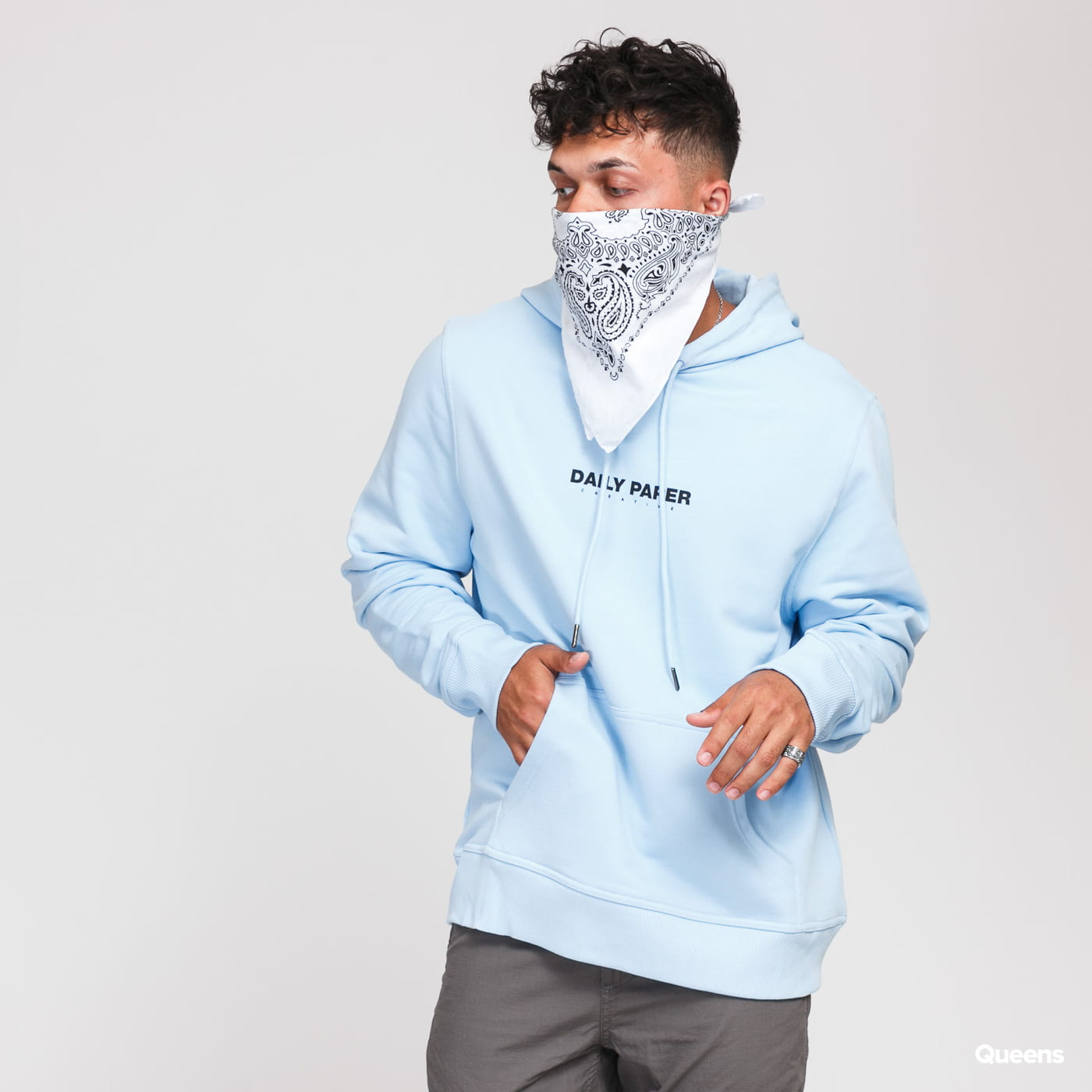 Daily Paper Remulti Hoody light blue