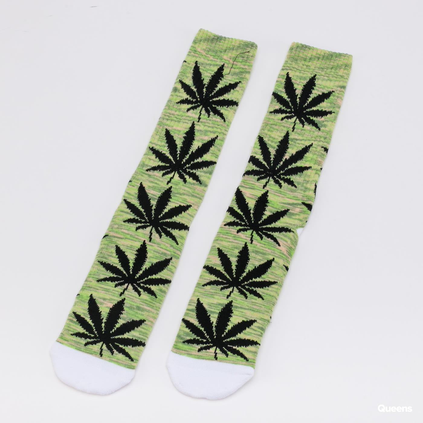 HUF Plantlife Melange Sock melange green / black / white