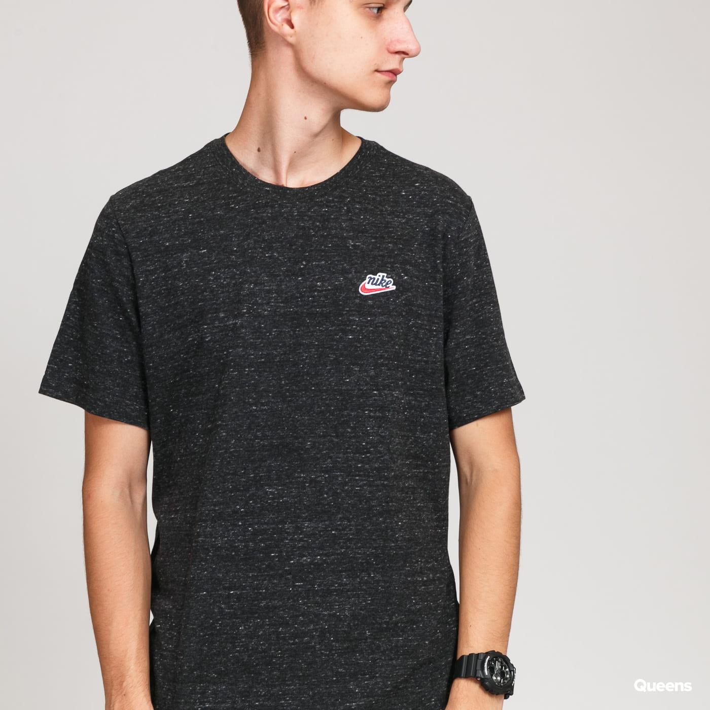 Nike M NSW Heritage + LBR SS melange black
