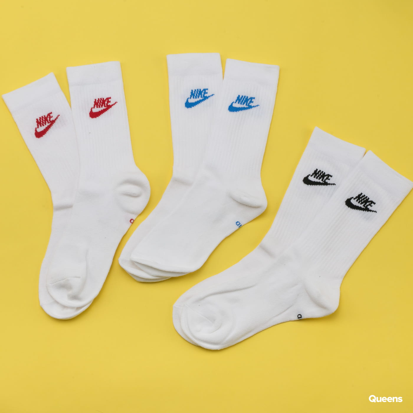 Nike U NK NSW Every Essential Crew 3Pack bílé