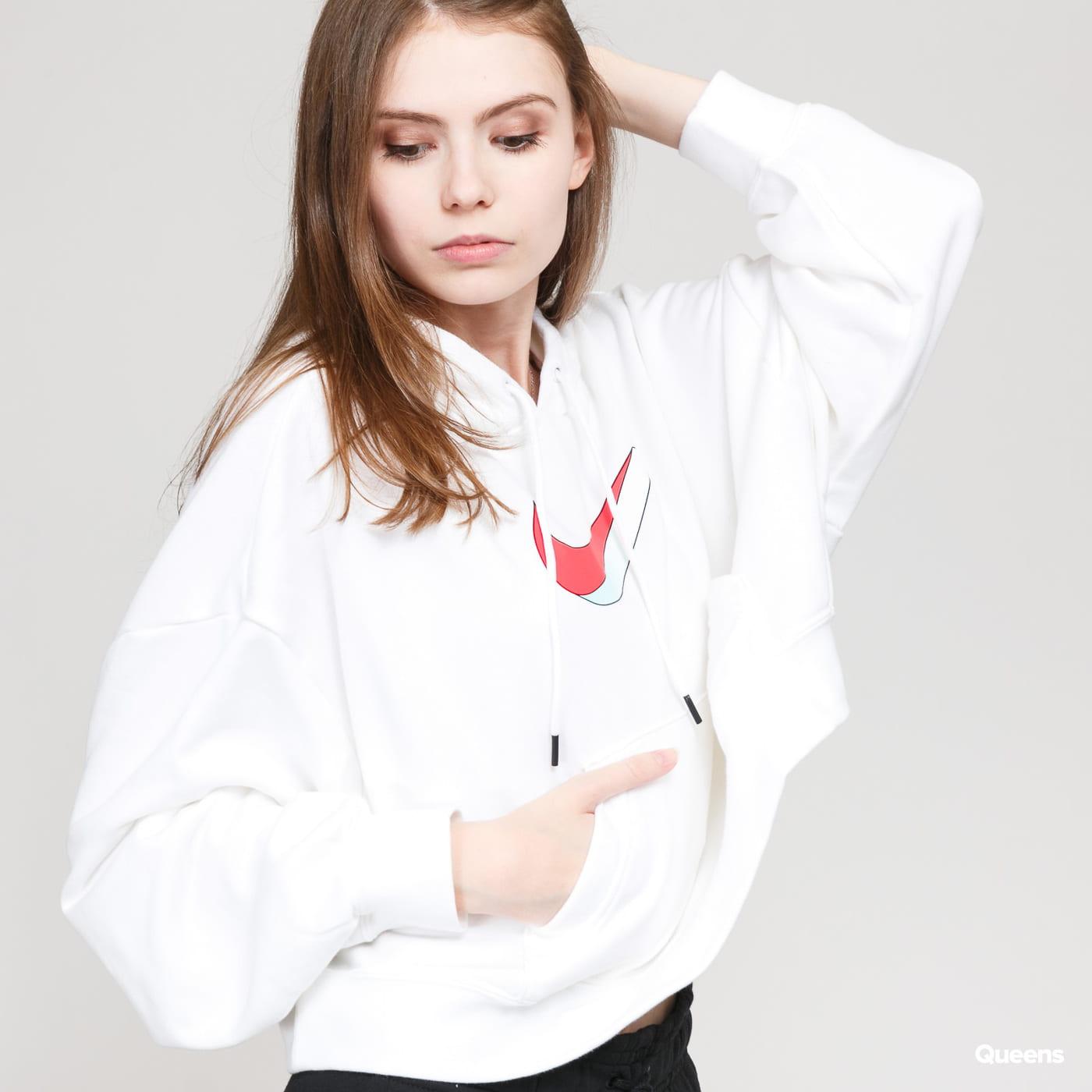 Nike W NSW Icon Clash Fleece Hoodie (mini cord) multi / true white