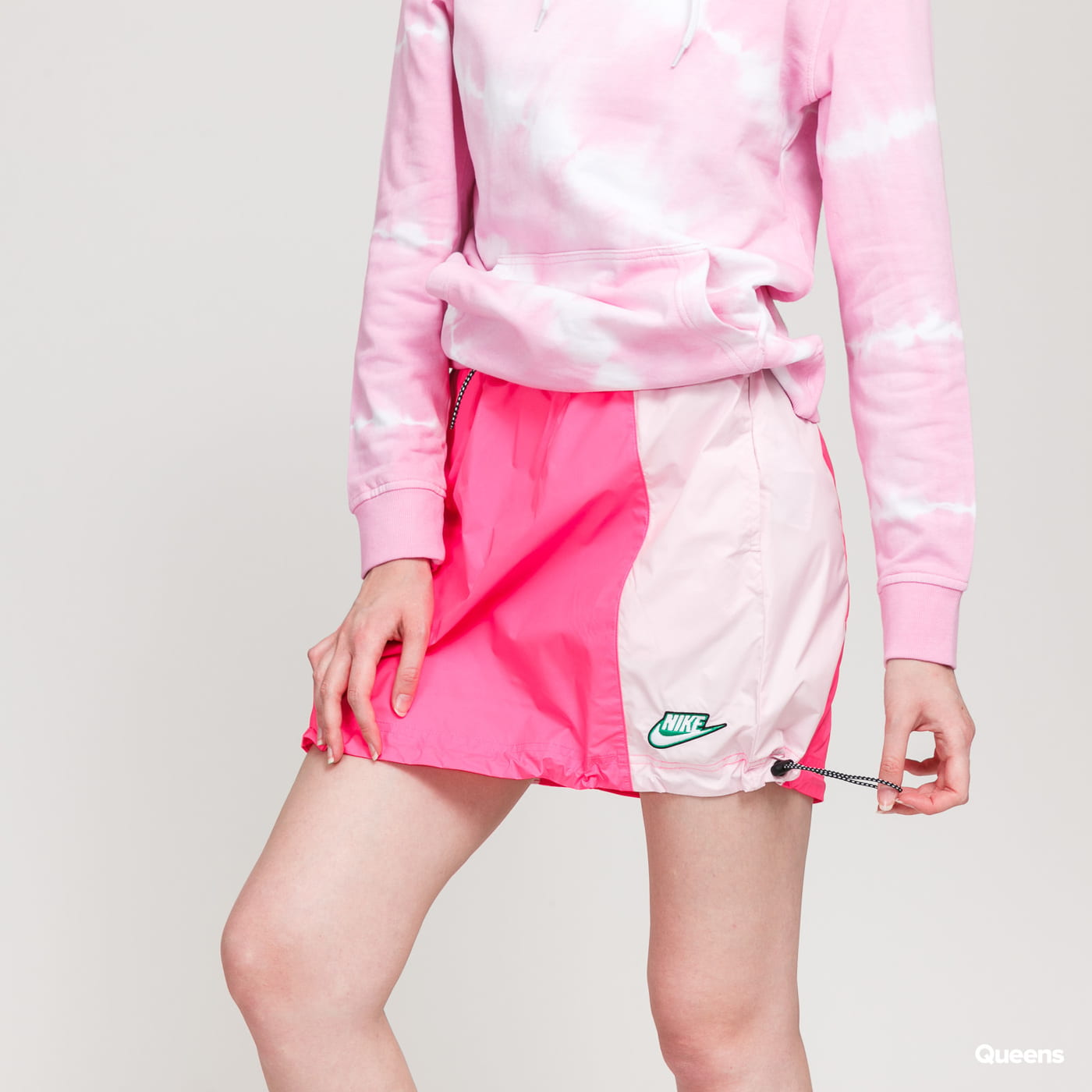Nike W NSW Icon Clash Skirt Woven neon pink / light pink