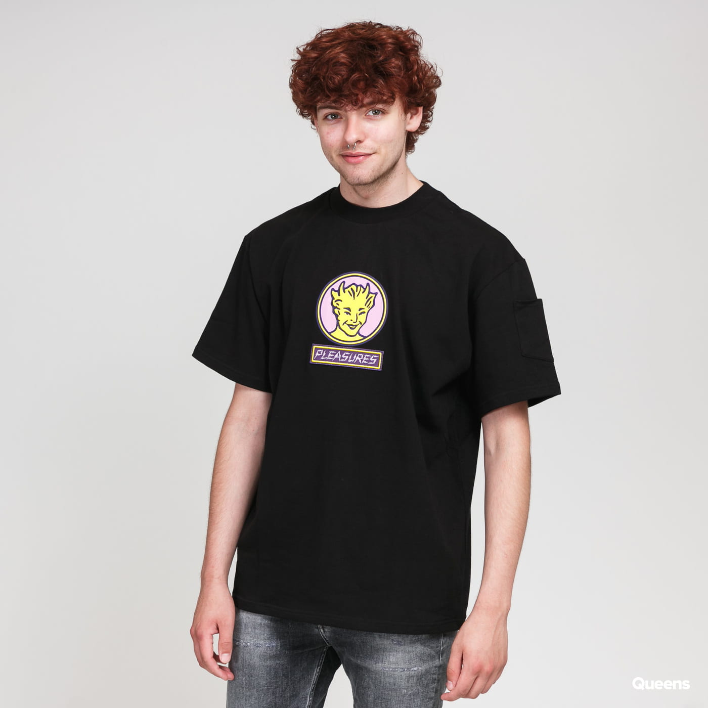 PLEASURES Hot Stuff Heavyweight Shirt black