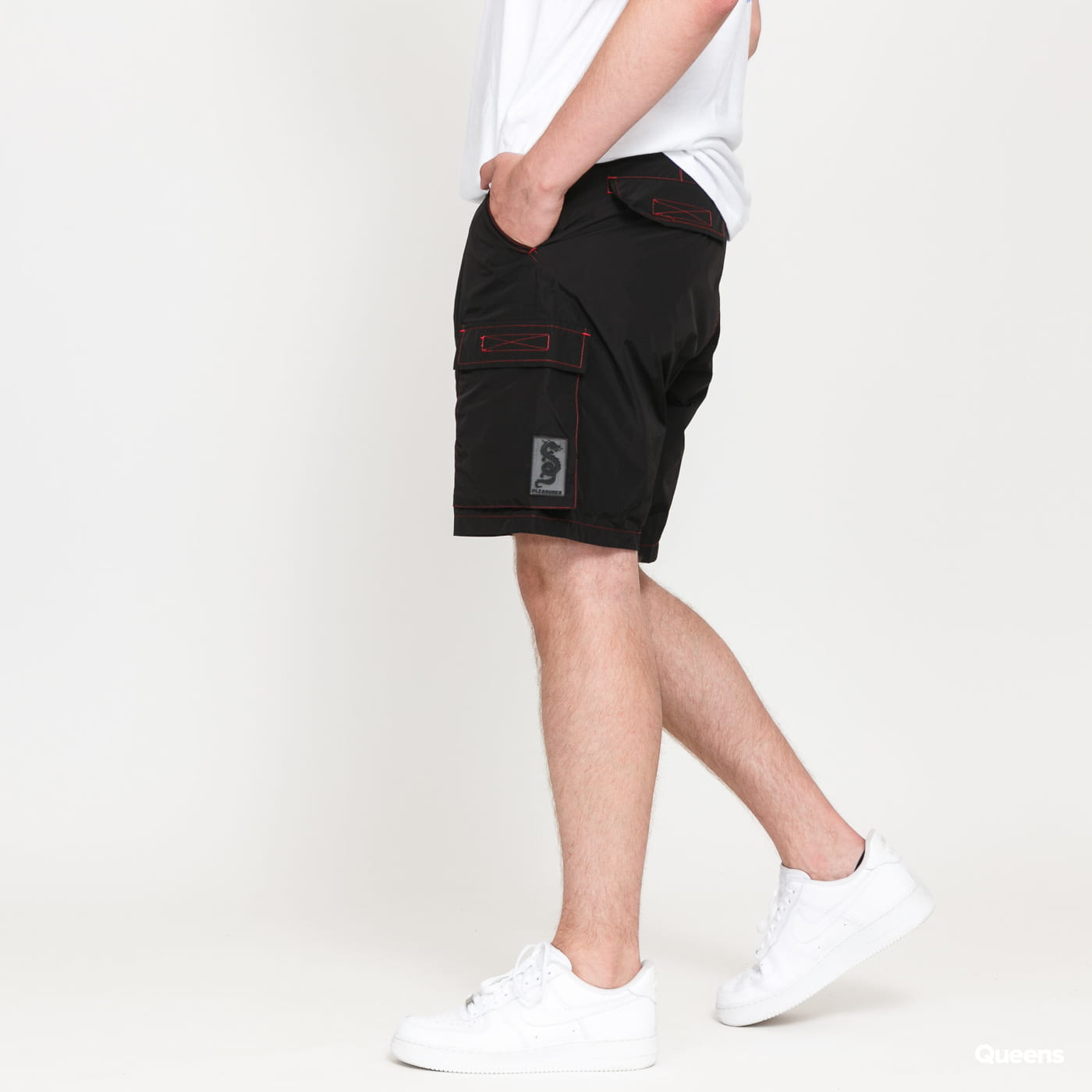 PLEASURES Static Nalon Cargo Shorts black
