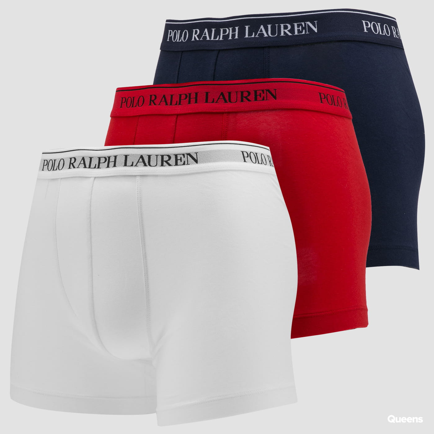 Polo Ralph Lauren 3Pack Stretch Cotton Classic Trunks C/O white / red / navy