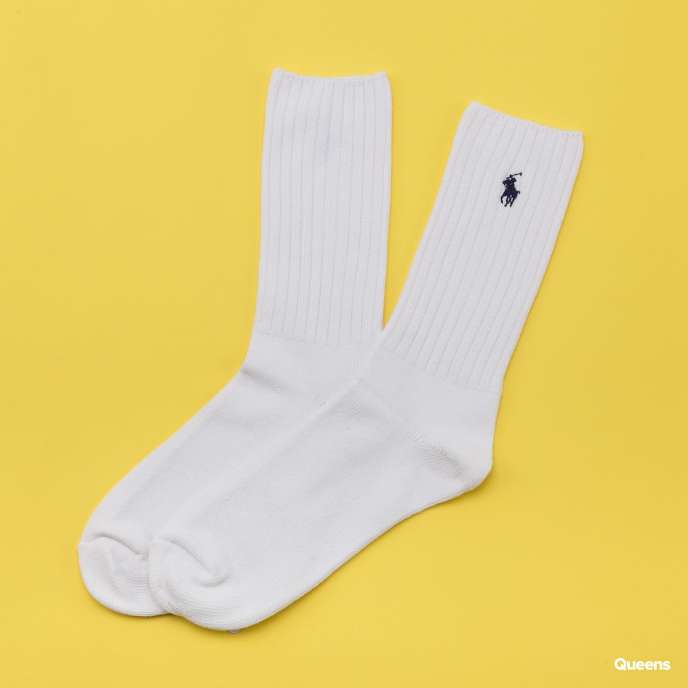 Polo Ralph Lauren Classic Cotton Crew Socks bílé