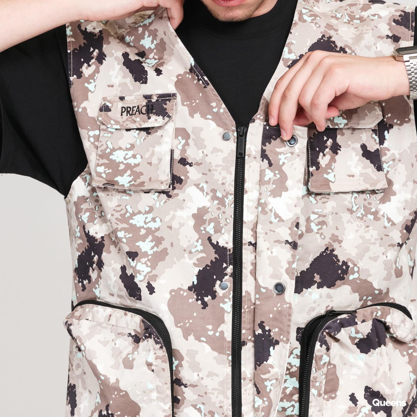 PREACH New Military Vest camo beige / brown / black / light mint