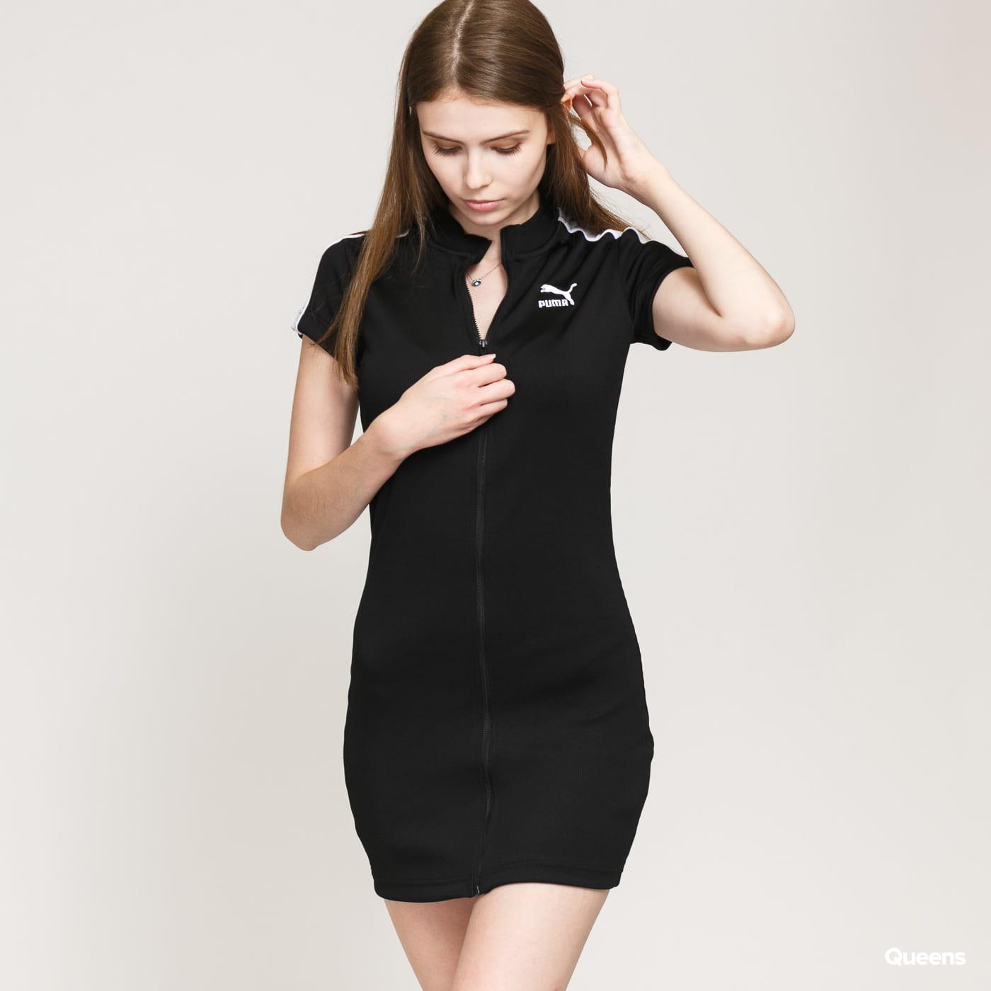 Puma Classics Ribbed Tight SS Dress black