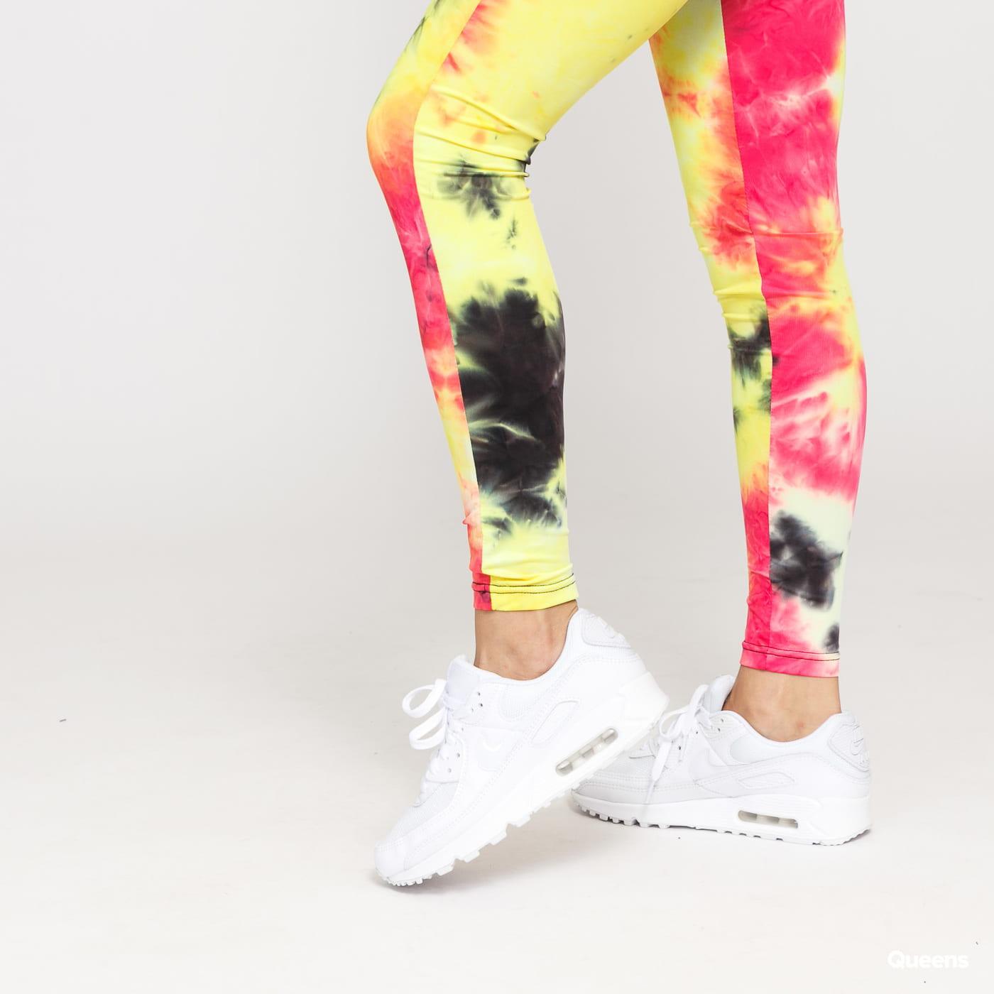 Urban Classics Ladies Tie Dye High Waist Leggings yellow / pink / black / orange