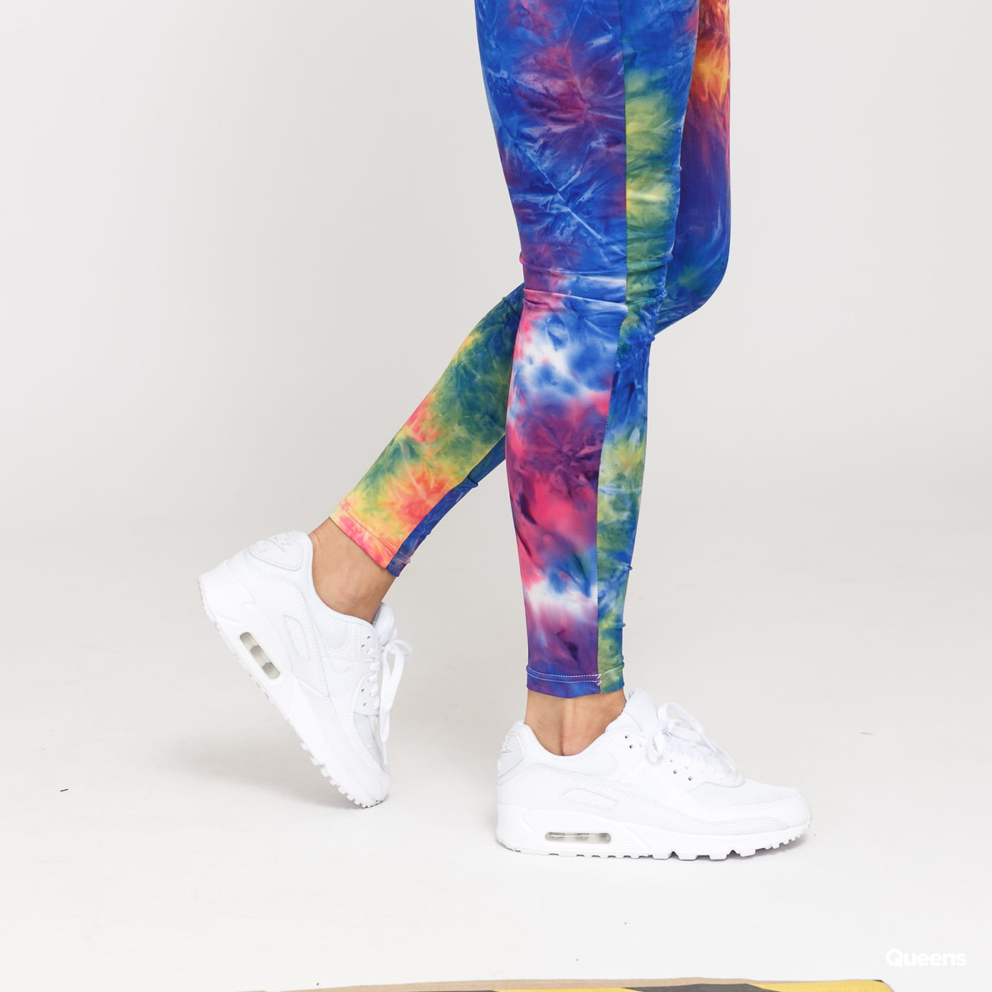 Urban Classics Ladies Tie Dye High Waist Leggings modré / žluté / růžové / oranžové