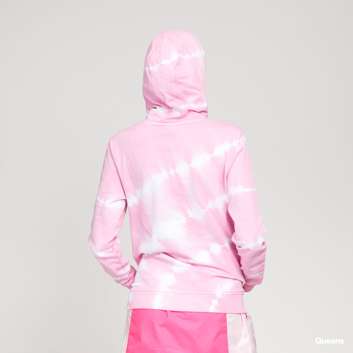 Urban Classics Ladies Tie Dye Hoody pink / white