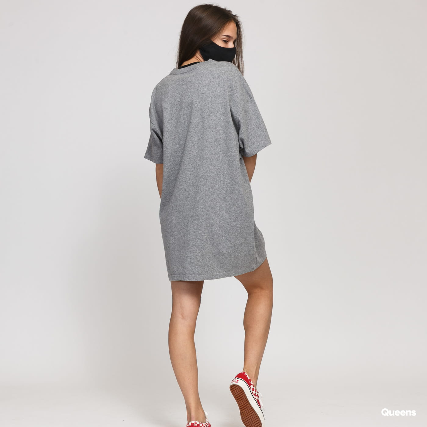 Vans WM Center Vee Tee Dress melange gray