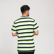 HUF Cruz SS Knit Shirt bílé / čené / zelené