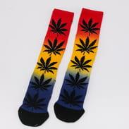 HUF Plantlife Gradient Dye Sock black / red / yellow / navy