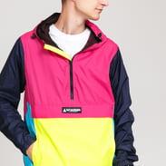 HUF Wave Anorak Jacket pink / yellow / light blue / navy