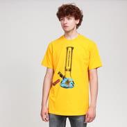 PLEASURES Glass T-Shirt tmavě žluté