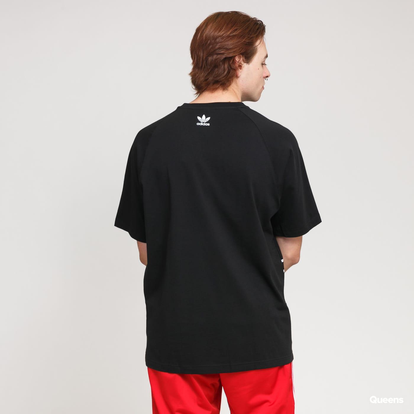adidas Originals Big Trefoil Outlined Tee černé