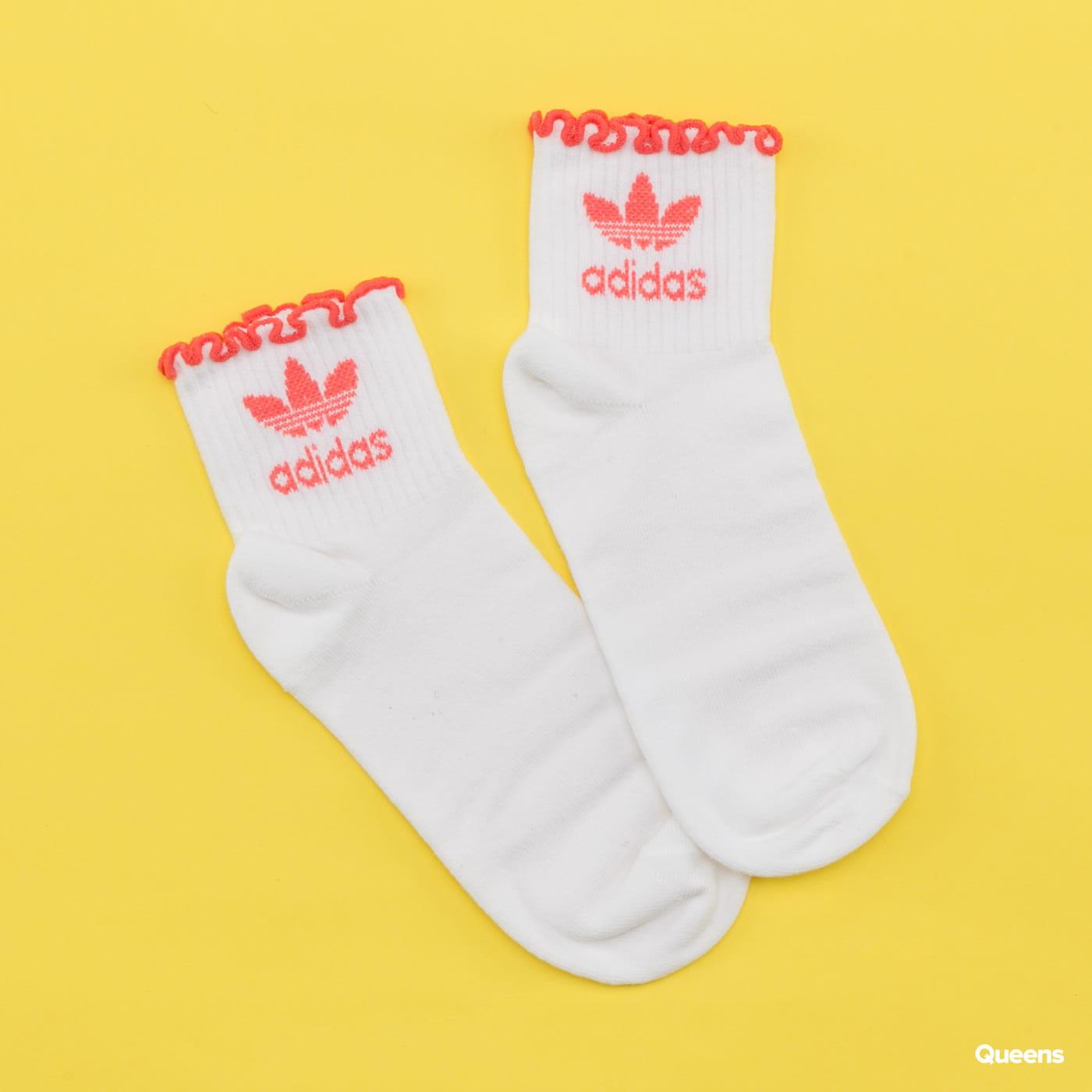 adidas Originals Ruffle Sock white / dark pink