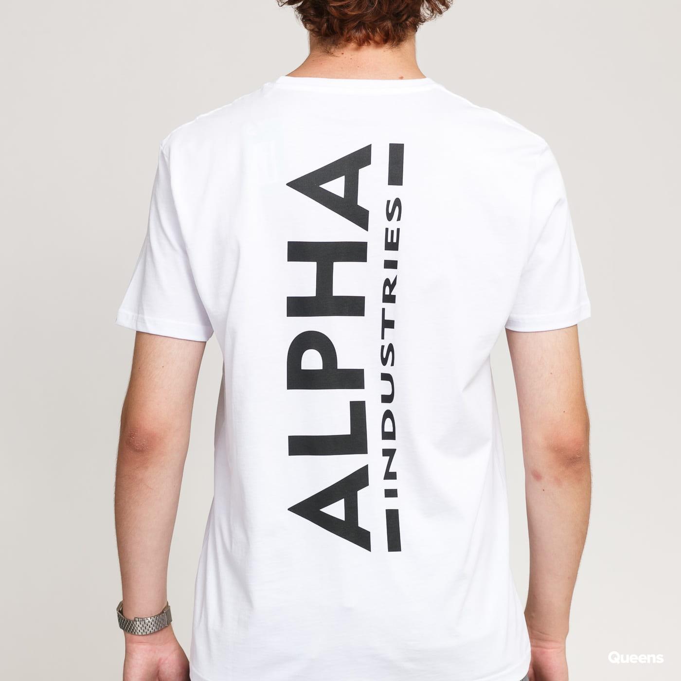 Alpha Industries Backprint Tee bílé