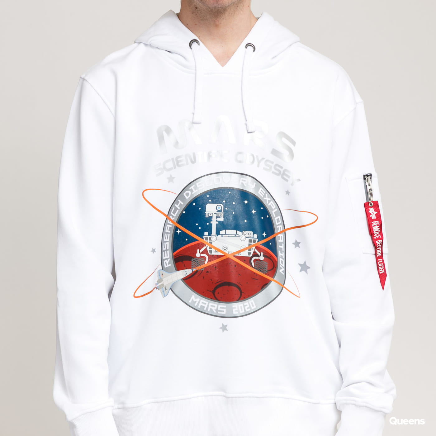 Alpha Industries Mission To Mars Hoody (mini cord) multi / true white