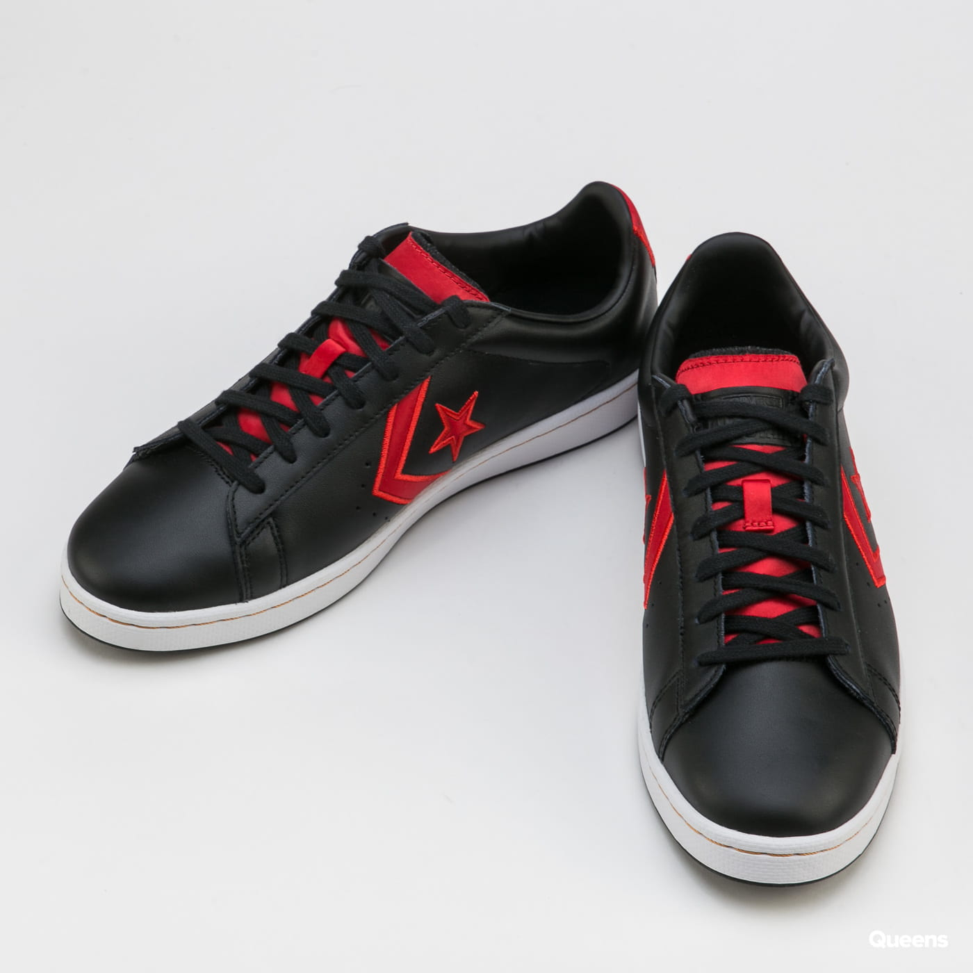 Converse Pro Leather Gold Standard OX black / university red / white