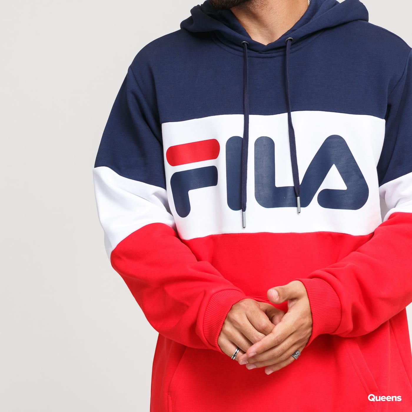 Fila Men Night Blocked Hoody navy / red / white