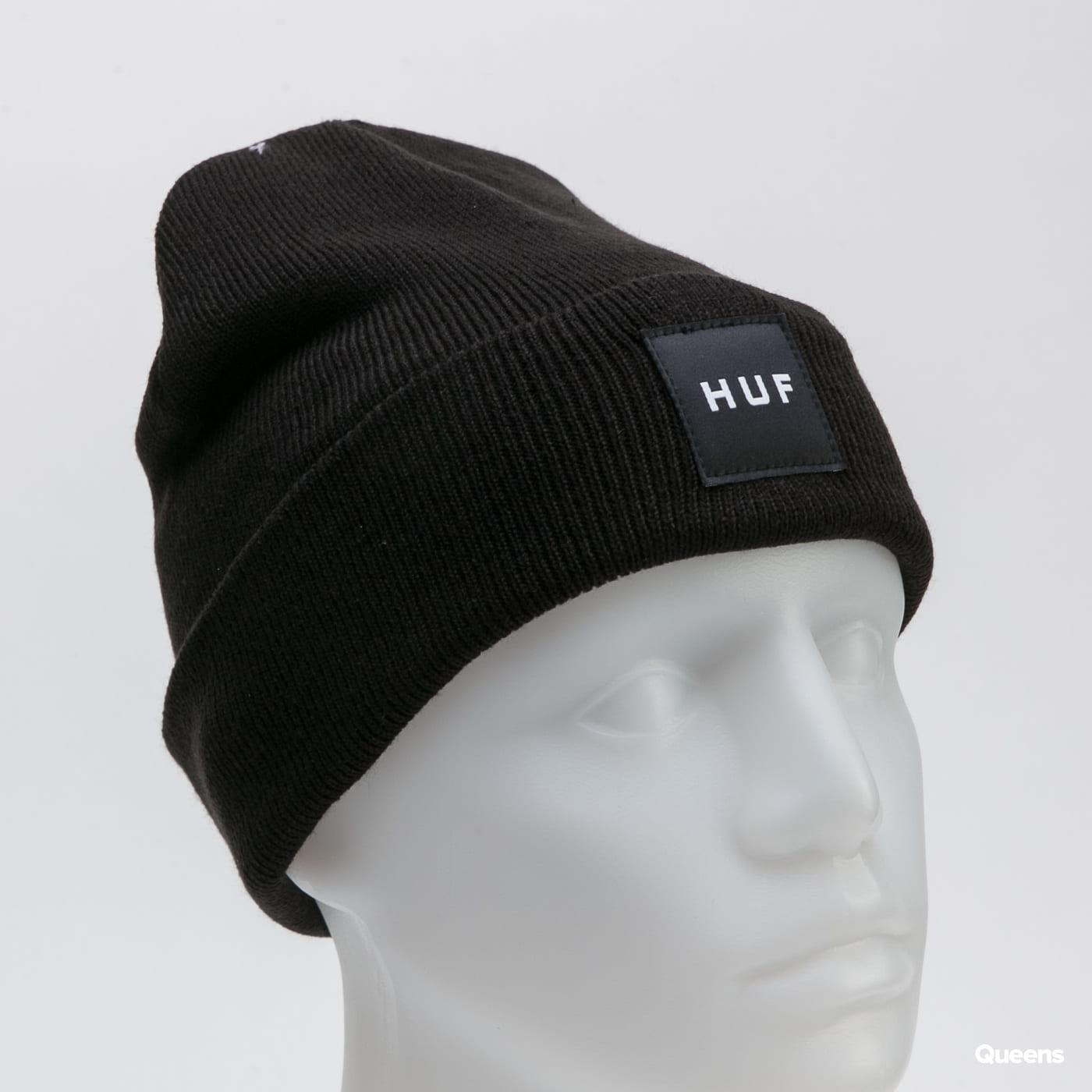 HUF Essentials Box Logo Beanie černý