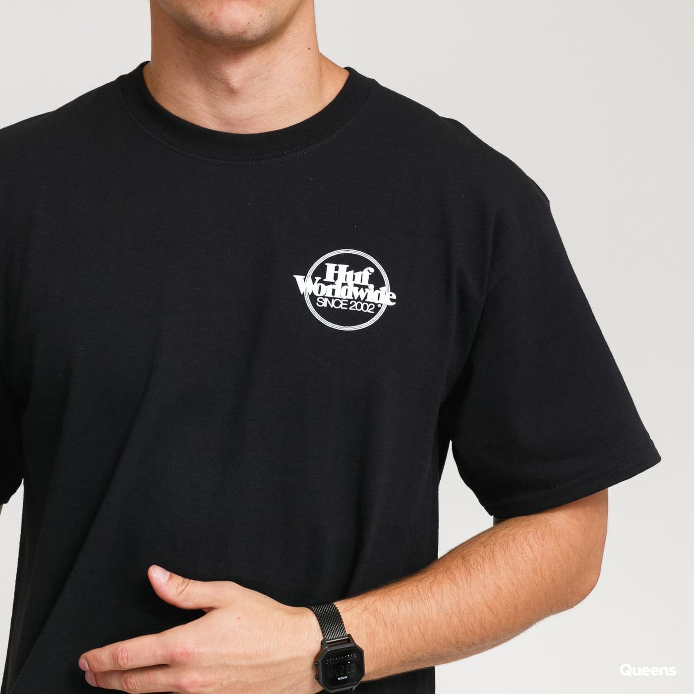 HUF Issues Logo Puff T-Shirt black