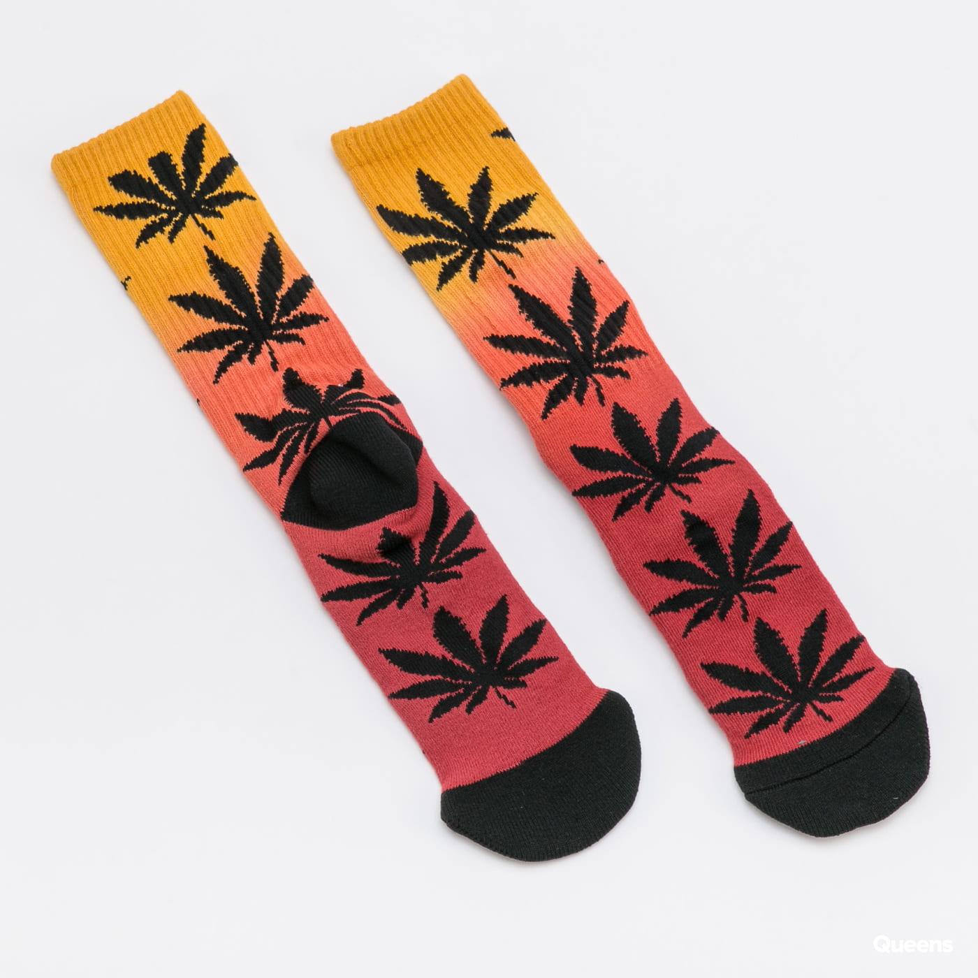 HUF Plantlife Gradient Dye Socks dark red / dark yellow / black