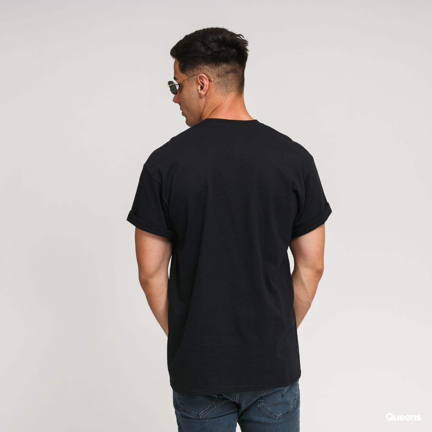 HUF Voyeur Logo T-Shirt černé